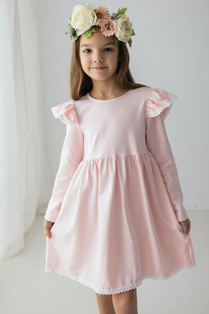 pudrowo rużowa sukienki dla dziewczynek